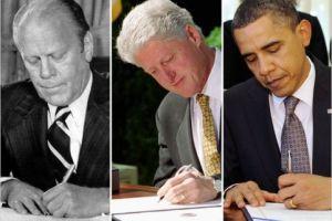 Linkshandige Presidenten