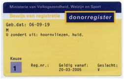 oude donorpas